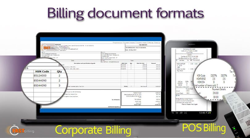 Document formats of billing software